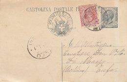 Ambulante ROCCHETTA S.A. - LIONI - AVELLINO. 1921. Annullo Guller Su Cartolina Postale Con Testo - 1900-44 Victor Emmanuel III