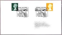 Centenario De IAN FLEMING. Pistola - Gun. Whitehall 2008 - Escritores