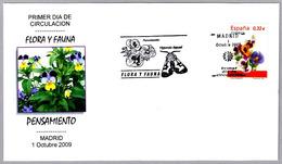 Flor PENSAMIENTO - Flower. SPD/FDC Madrid 2009 - Vegetales