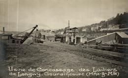 CPA RARE USINE DE CONCASSAGE DES LAITIERS DE LONGWY GOURAINCOURT - Longwy