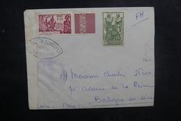 CÔTE DES SOMALIS  - Enveloppe De Djibouti En Fm Pour La France En 1939 + Contrôle , Affranchissement Plaisant - L 41874 - Lettres & Documents