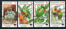Niuafo'ou, Tin Can Island, 1998, Birds, World Wildlife Fund, WWF, MNH, Michel 326-329 - Timbres