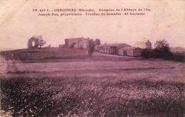 D33  ORDONNAC Domaine De L'Abbaye De L'Ile Joseph Bos Propriétaire    ........ Carte Peu Courante - Lesparre Medoc