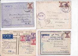 BRITISH INDIA RAJ POSTAGE INDE LOT OF 23 MAIL COVER STAMP ROYAL AIR FORCE RAF CENSOR WW2 LETTER ENVELOPE ACTIVE SERVICE - Indien (...-1947)