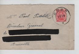 PR6903/ TP 138 S/L. C.Fortune Dour 1919 Adresse Barrée > BXL - Fortune Cancels (1919)