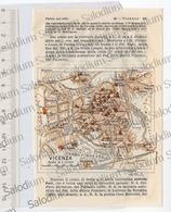 VICENZA  - Mappa Cartina - Mappe