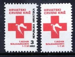 CROATIA 1992 Obligatory Tax: Solidarity Week Black Printing Omitted  MNH / **  Michel ZZM 22 - Croazia