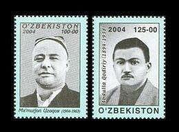 Uzbekistan 2004 Mih. 547/48 Cultural Figures. Singer Ma'murjon Uzoqov And Writer Abdulla Qodiriy MNH ** - Uzbekistan