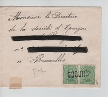 PR6904/ TP 137(2) S/L.Griffe De Fortune Obourg Qui Annule Les TP > BXL - Fortune Cancels (1919)