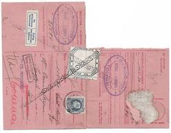 Fiscal Sur Document à Voir  Tournai  Ch  BONDROIT  Retour à L'envoyeur - Marcophilie