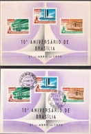 Brazil Cancelled And Mint PPCs With Sets - Stamps On Stamps