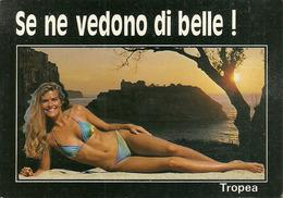 Tropea (Vibo Valentia) Tramonto Con Ragazza Sexi (Pin Up) In Bikini - Vibo Valentia