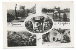 CPSM MULTIVUES ST SAINT GERMAIN DE CONFOLENS, Format 9 Cm Sur 14 Cm Environ, CHARENTE 16 - Francia