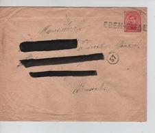 PR6906/ TP 138 Griffe Fortune EBEN-EMAEL Adresse Barrée > BXL C.facteur 57 - Fortune Cancels (1919)