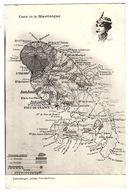 MARTINIQUE - Carte De La Martinique - Ed. Leboullanger, Fort-de-France - Fort De France