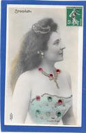 Artiste STOCHETTI - Profil Avec Bijoux, Paillettes Et Strass - Fantaisies