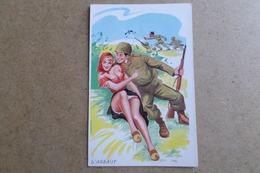 HUMOUR - L'assaut - Illustrateur L.Carriere - Pin-up, Jolie Fille,soldat, Militaire ( Illustrateur, Humour ) - Humoristiques