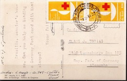 Brazil Used Picture Postcard - Red Cross