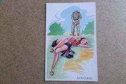 HUMOUR - Déminage - Illustrateur L.Carriere - Pin-up, Jolie Fille,soldat, Militaire ( Illustrateur, Humour ) - Umoristiche