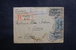 ALLEMAGNE - Enveloppe En Recommandé De Königshütte Pour La France En 1920,affranchissement Plaisant Ht Silésie - L 41879 - Germany