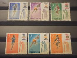 GRENADA - 1968 OLIMPIADI 6 VALORI - NUOVI(++) - Grenada (1974-...)