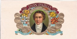 Sigarenkist Etiketten - Flor  DON Pablo Fina Tabacos PUROS Made In Belgium - Labels