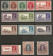 INDIA - JIND 1937 - 1938 SET TO 2R SG 109/122 VERY LIGHTLY MOUNTED MINT Cat £106+ - Jhind