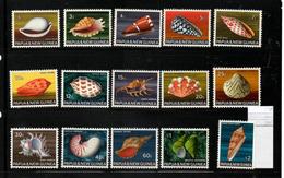 PAPOUASIE Nelle GUINEE    NEUF Sans Charnière  N°  138 à 152    N**  1958   Coquillages S/C   Cte:  55,00 € - Papouasie-Nouvelle-Guinée