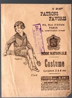 Paris Rue D'Alesia : DEMUYLDER: Patrn COSTUME Garçonnet 2/4 Ans  (PPP11316) - Patterns