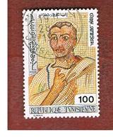 TUNISIA - SG 854  -    1976  TUNISIAN MOSAICS: VIRGIL   - USED ° - Tunisia (1956-...)