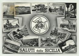 SALUTI DALLA SICILIA -  VIAGGIATA  FG - Italien