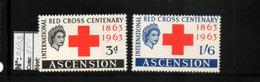 ASCENSION (ile)   NEUF Sans Charnière  N° 91/92   N**  CEntenaire De La CROIX ROUGE   Cte:  15,00 € - Ascension (Ile De L')