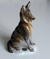 Ancienne Figurine - Chien Berger Belge Malinois - Porcelaine Rosenthal - T. KÄRNER N° 708  - En Parfait état - - Tiere