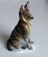 Ancienne Figurine - Chien Berger Belge Malinois - Porcelaine Rosenthal - T. KÄRNER N° 708  - En Parfait état - - Animales
