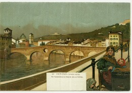 VERONA - R. TAFURI - LUNGO ADIGE RE TEODORICO E PONTE DELLA PIETRA - 1900s  (3685) - Verona