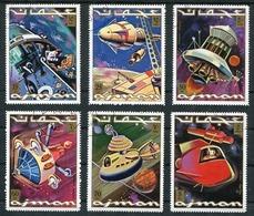 AJMAN - SPACESHIPS, ESPACE, SPACE, ESPACIO. MICHEL 964 / 969, OBLITERES SERIE COMPLETE -LILHU - Ajman