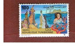 TUNISIA - SG 976  -    1981  TOURISM: NEEDLE ROCKS, TABARKA   - USED ° - Tunisia (1956-...)