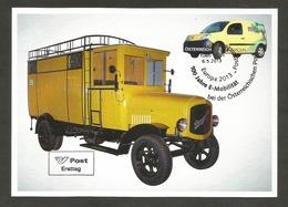 Österreich  2013   Mi.Nr. 3070 , EUROPA CEPT - Postfahrzeuge - Maximum Card - Stempel 100 Jahre E-Mobilität 6.5.2013 - 2013