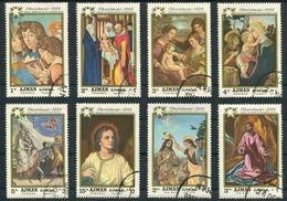 AJMAN - CHRISTMAS, XMAS, NOEL, NAVIADAD. ANNEE 1969 MICHEL 488 / 495, OBLITERES SERIE COMPLETE -LILHU - Ajman