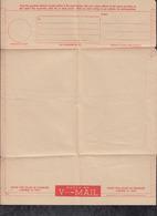 USA 1945 Airmail V-Mail Envelope Unused - Briefe U. Dokumente