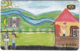 COSTA RICA - Chiildren Painting, ICE Tel Telecard, 07/01, Used - Costa Rica