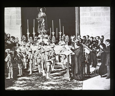 Seville The 'Corps De Ballet'  Of The Cathedral SPAIN - Magic Lantern Slide (lanterne Magique) - Plaques De Verre