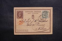 ITALIE - Entier Postal + Complément De Rome Pour Nice En 1876 - L 41892 - 1861-78 Victor Emmanuel II.