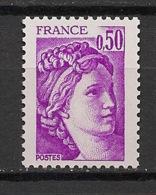 France - 1977 - N°Yv. 1969b - Sabine 50c Violet - Sans Phosphore - Signé Calves - Neuf Luxe ** / MNH / Postfrisch - Abarten Und Kuriositäten