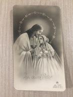 Santino Gesu' Cristo In Ricordo Della Prima Comunione Di M. G. Carpaneto In Genova - Santini