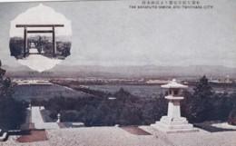 Japan Occupation Sakhalin Island, Karafuto Shrine And Toyohara City From Distance, C1920s/30s Vintage Postcard - Russia
