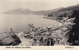 Obama Onsen Hot Springs Japan, View Of Town On Coast, C1930s Vintage Postcard - Other