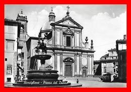 CPSM/gf RONCIGLIONE (Italie)   Piazza Del Duomo, Animé, Vieux Cars, Fontaine....J658 - Viterbo