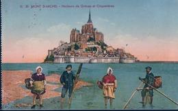 POSTAL FRANCIA - MONT ST MICHEL - PECHEURS DE GREVES ET COQUETIERES - LL 20 - Le Mont Saint Michel