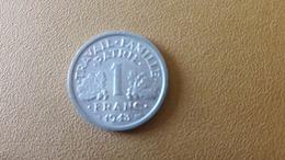 Pièce De 1 FR - ALU - FRANCISQUE - 1943 - B - ROUEN - France